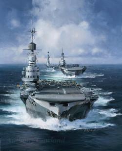 HMS Victorious, HMS Indomitable & HMS Eagle