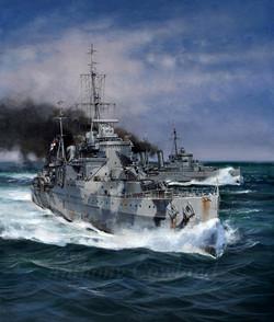 HMS Sheffield and HMS Edinburgh