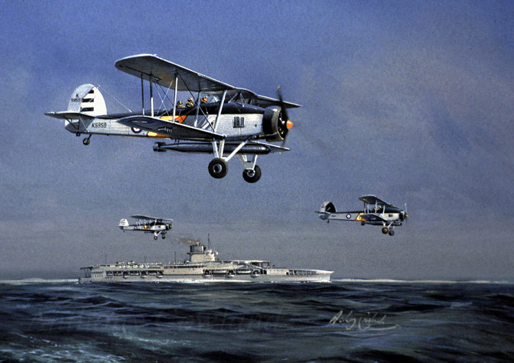 Fairey Swordfish. HMS Glorious