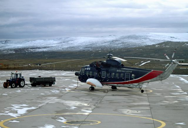 Sikorsky S61. Mount Pleasant, Falklands