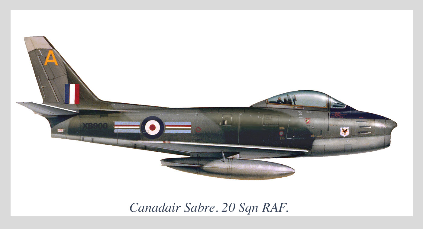 Canadair F-86 Sabre 20 sqn RAF