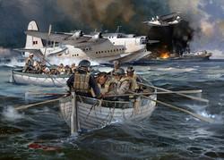 Short Sunderland. Atlantic rescue.