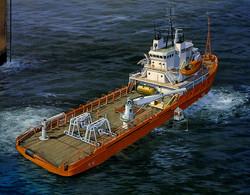 Highland Challenger oil rig tender