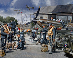 Hurricanes of 1 squadron RCAF Sept 1940