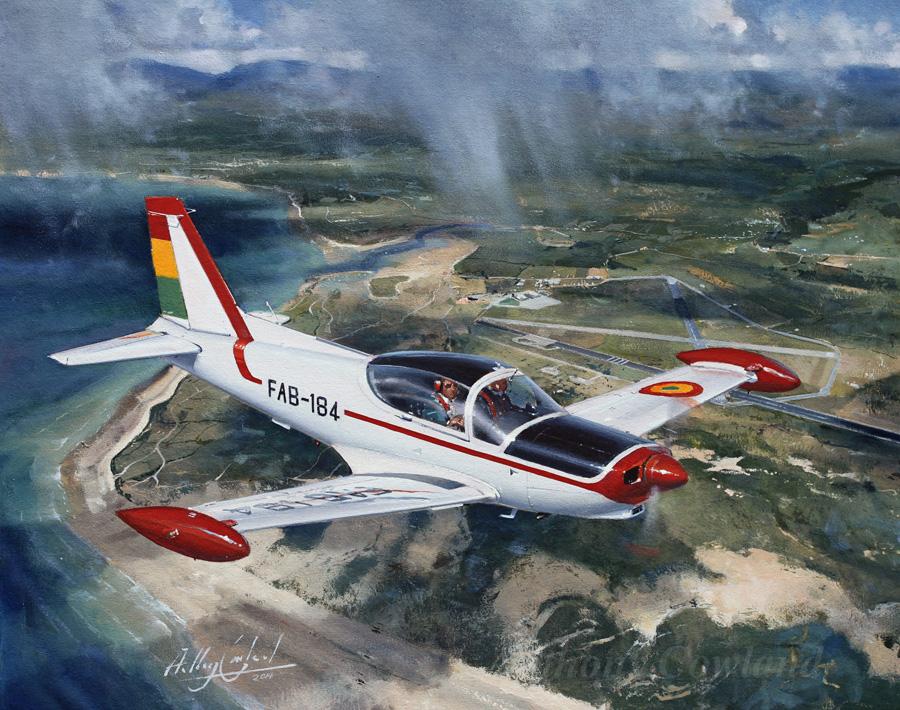 SIAI-Marchetti SF 260 over Llanbedr