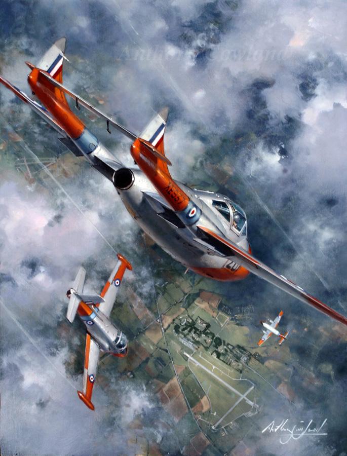 De Havilland Vampire T11. Cranwell