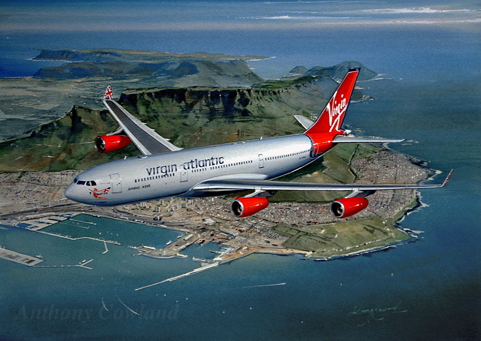 Airliner A340 Virgin Atlantic