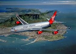 Airliner A340 Virgin Atlantic