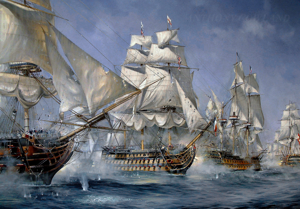 HMS Victory. Battle of Trafalgar