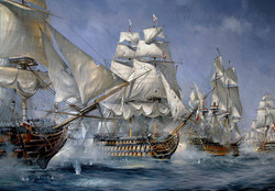HMS Victory. Battle of Trafalgar