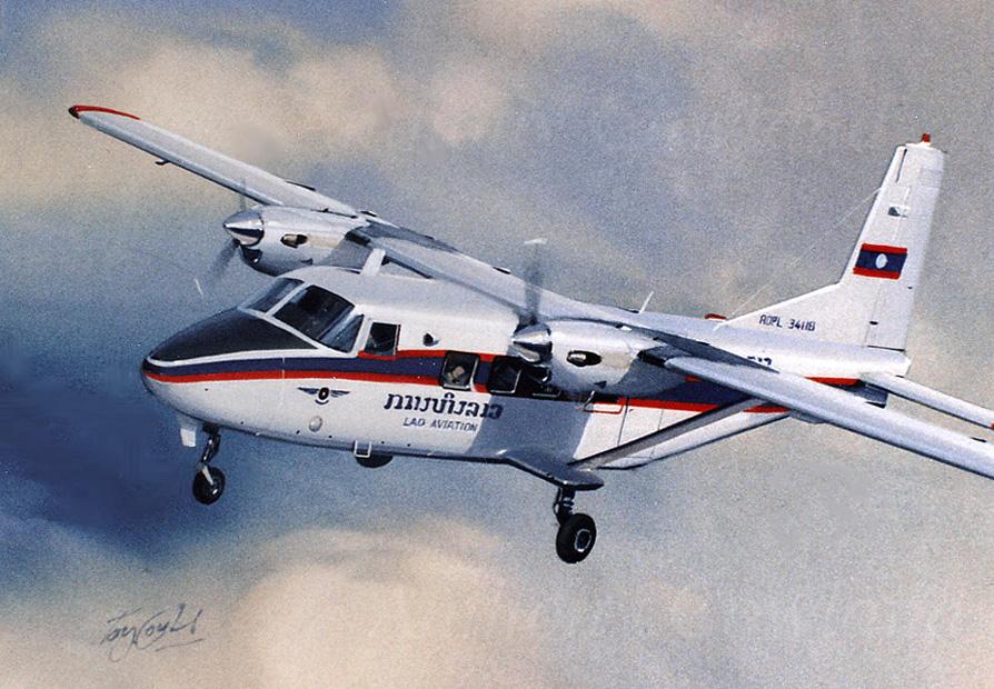 Harbin Y12 Lao Aviation