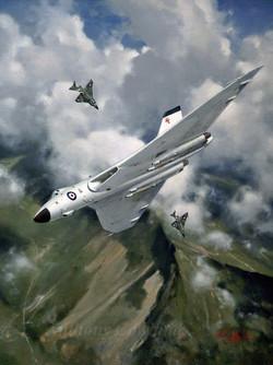 Avro Vulcan.BMk1 over Snowdonia