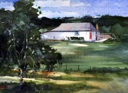 White farmhouse. France