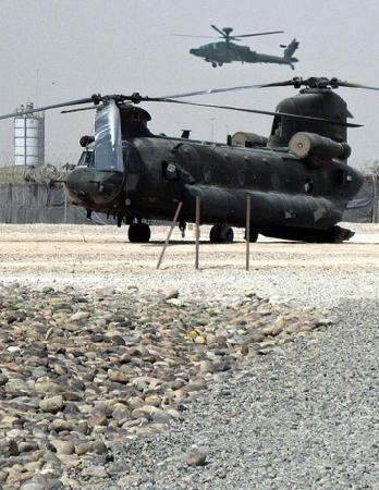 Chinook at Camp Bastion, Afghanistan