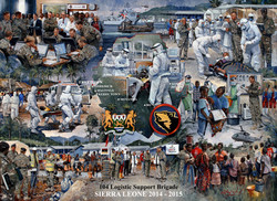 104 Log Bde. Sierra Leone ebola crisis painting
