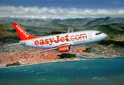 Boeing 737 Easyjet over Nice