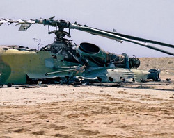 Destroyed Iraqi Mil helicopter. Near Basrah