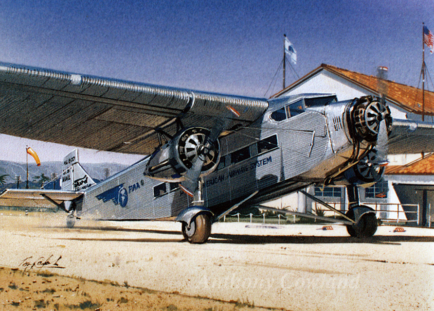 Ford Trimotor. Pan American Airways