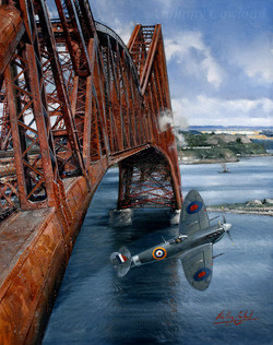Seafire under Forth rail bridge