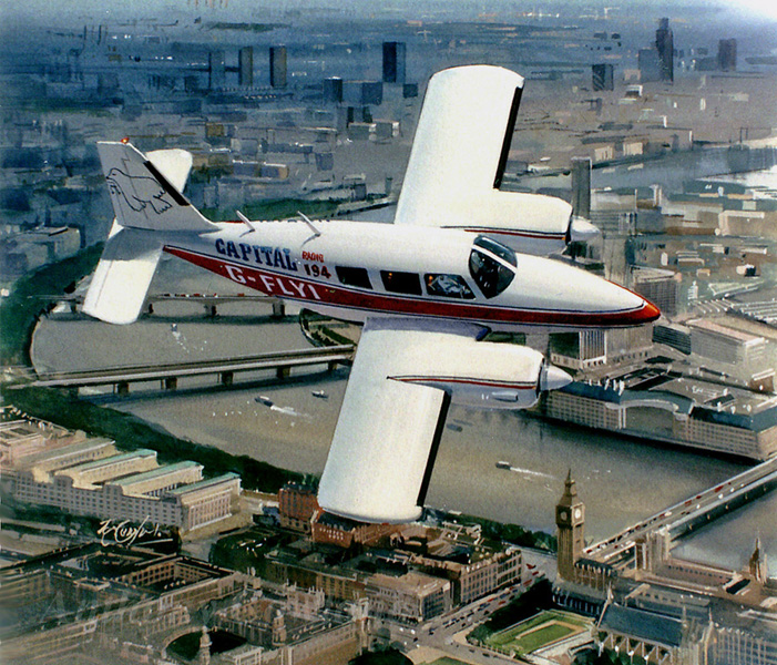 Piper Aztec (Capital Radio Flying Eye)