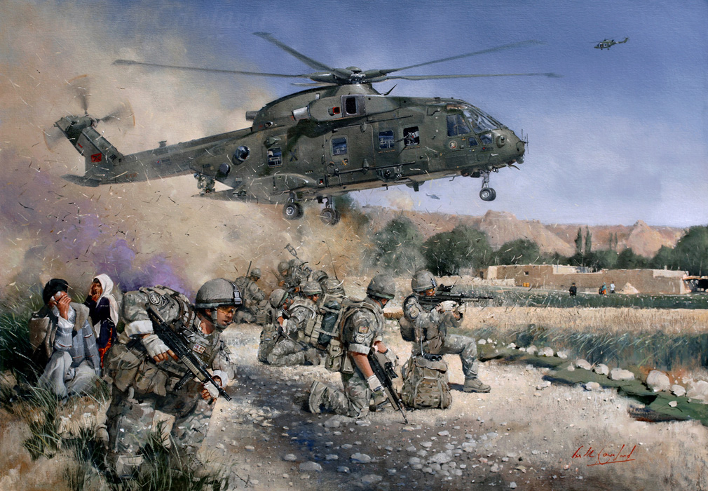 Merlin Helmand Province Afghanistan