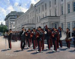 Gurkha Pipes and Drums, Wellington Barracks, London.