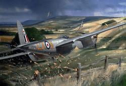 De Havilland Mosquito. Practicing for the Farnborough Airshow