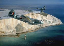 Supermarine Spitfire over Beachy Head, Sussex