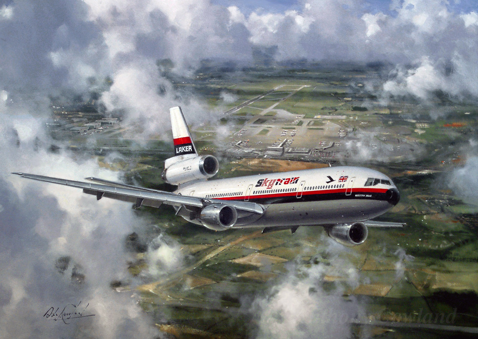McDonnel Douglas DC10 Laker Skytrain leaving Gatwick