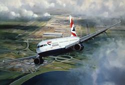 Airbus A321 British Airways. Heathrow London
