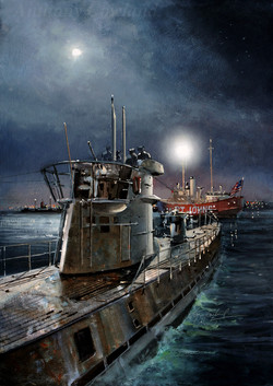 U-Boat off the coast of America