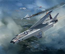 Vought F-8U-2 Crusader. Vietnam