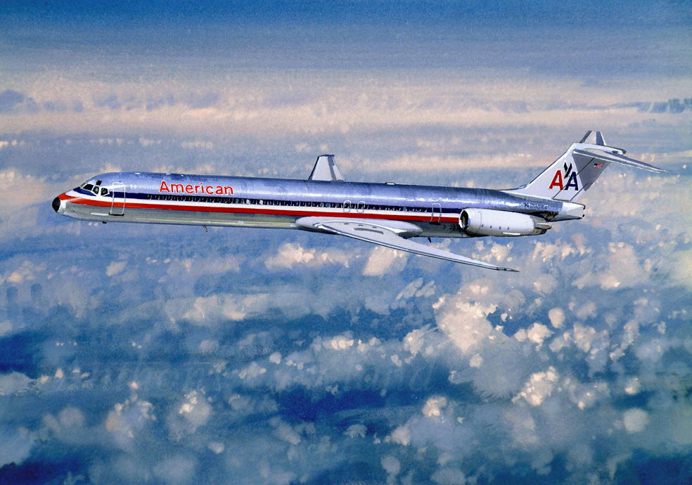 American Airlines MD.82