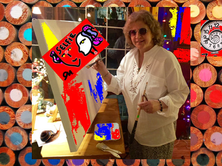 Art Fridays: Studio Visit with Artist and Playwright Oana Maria Cajal
