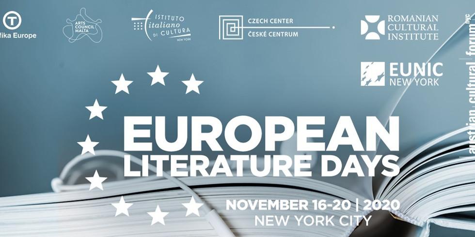 Author Dan Coman at the European Literature Days 2020 - NYC