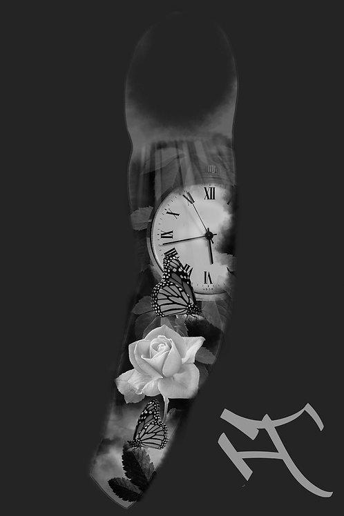 Kello ja ruusu, hihan sisäsyrjä