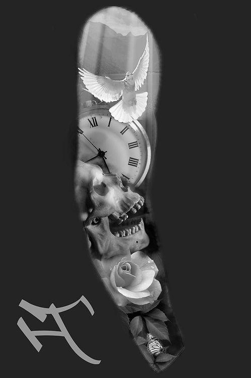 Kallo ja kello, hihan ulkosyrjä