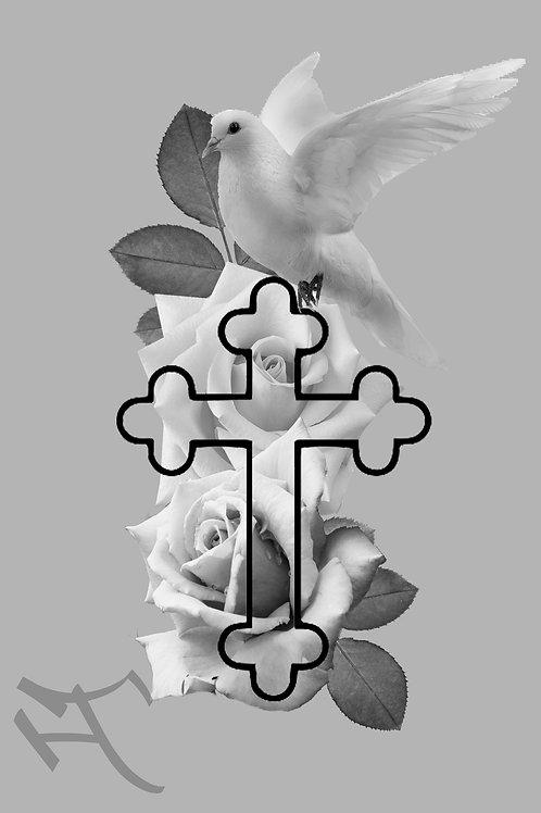 Ruusut, risti ja kyyhky