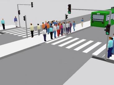 Simulación del comportamiento de peatones: