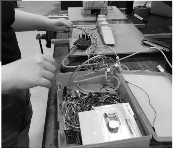 Initial Wiring of prototype sensors and motors