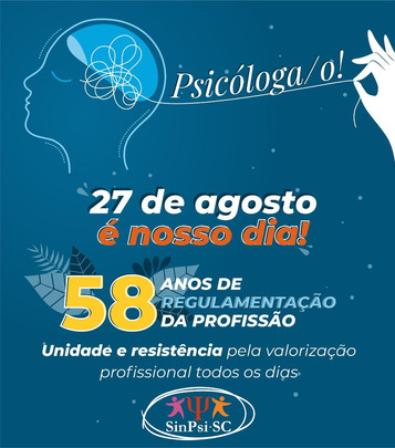 Dia da(o) Psicóloga(o) 27 de agosto