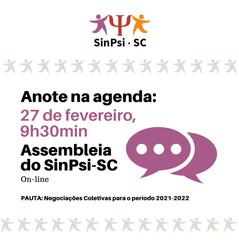 Assembleia Geral do SinPsi-SC