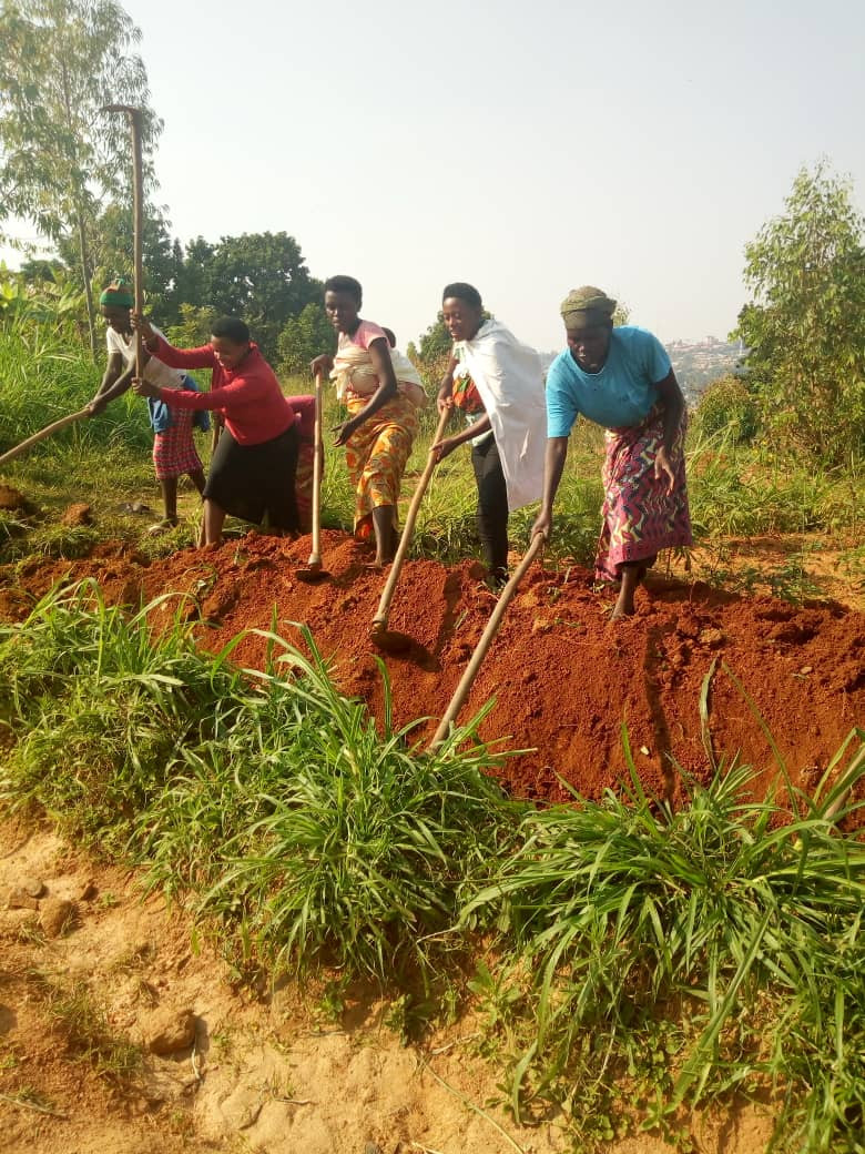 water kiosk construction digging piping