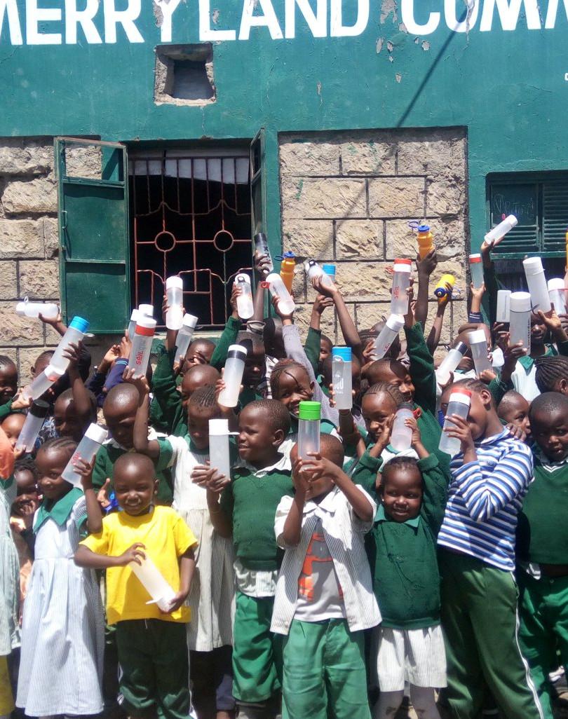 water kiosk soweto school children