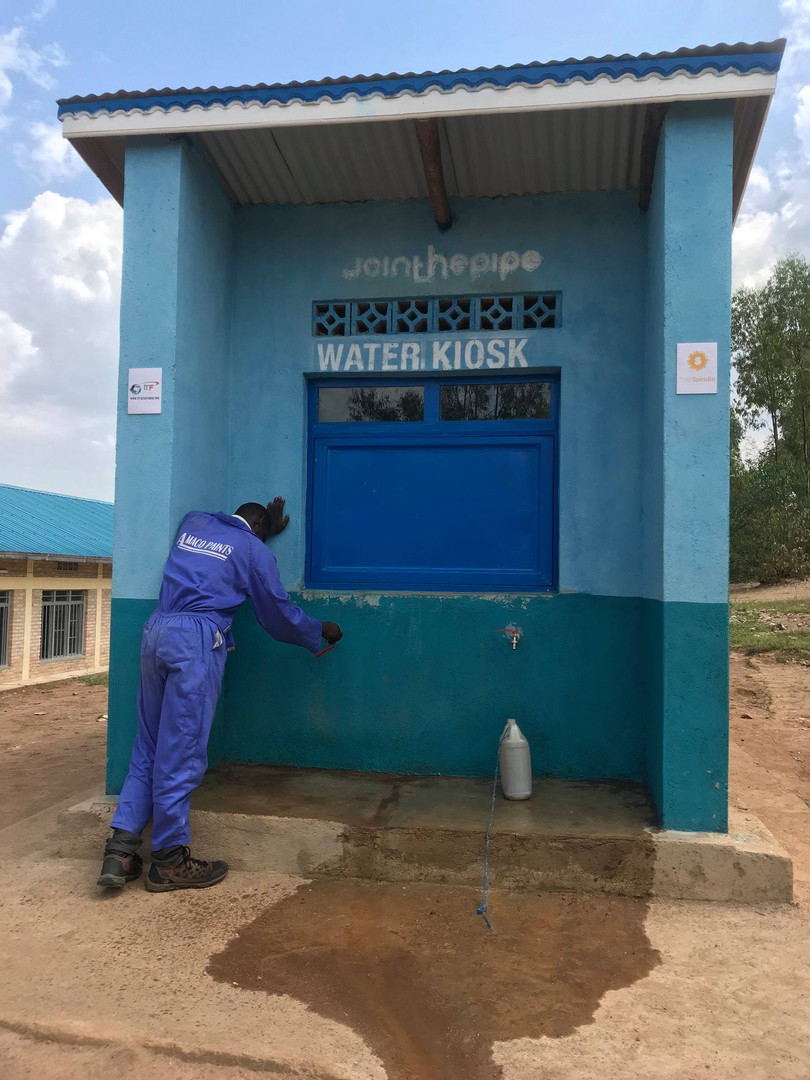 water kiosk school join the pipe