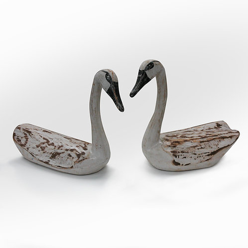 Hand Carved Swans