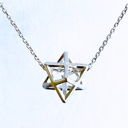 3D Silver Magen David/Star of David Necklace
