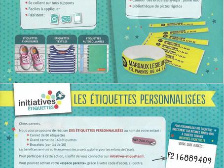 Étiquettes personnalisées pour nos enfants