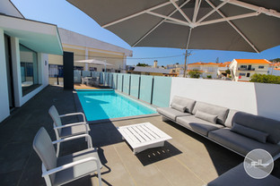 Heated swimming pool and lounge area