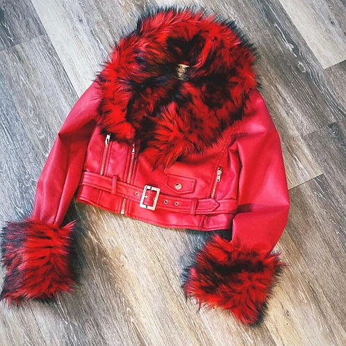 Exclusive Leather/Fur Bomber